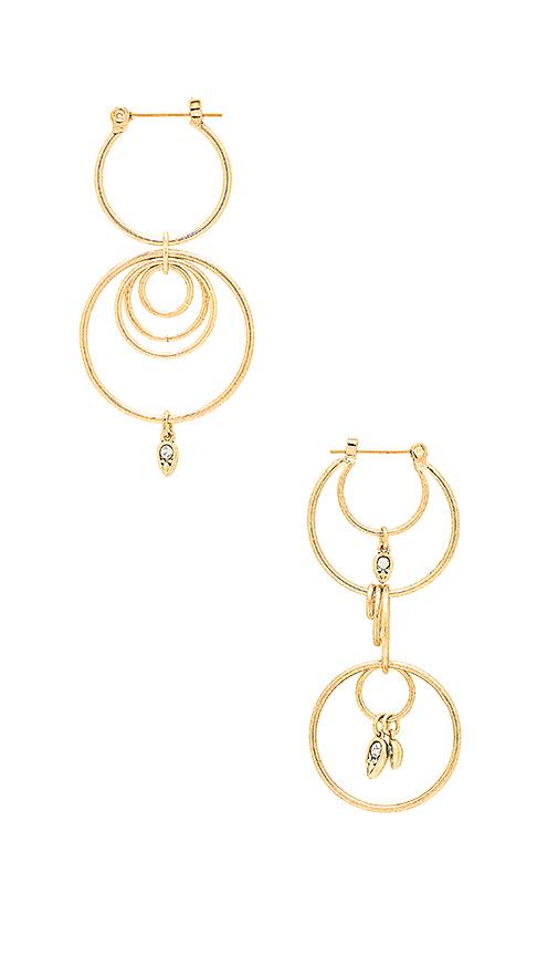 Luv AJ Eclipse Hoop Earrings in Metallic Gold