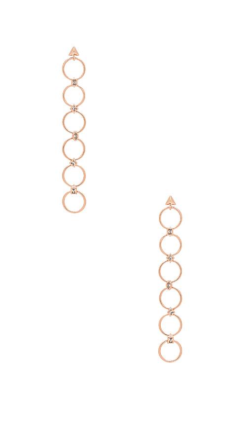 Luv AJ The Scattered Gem Loop Earrings in Metallic Copper