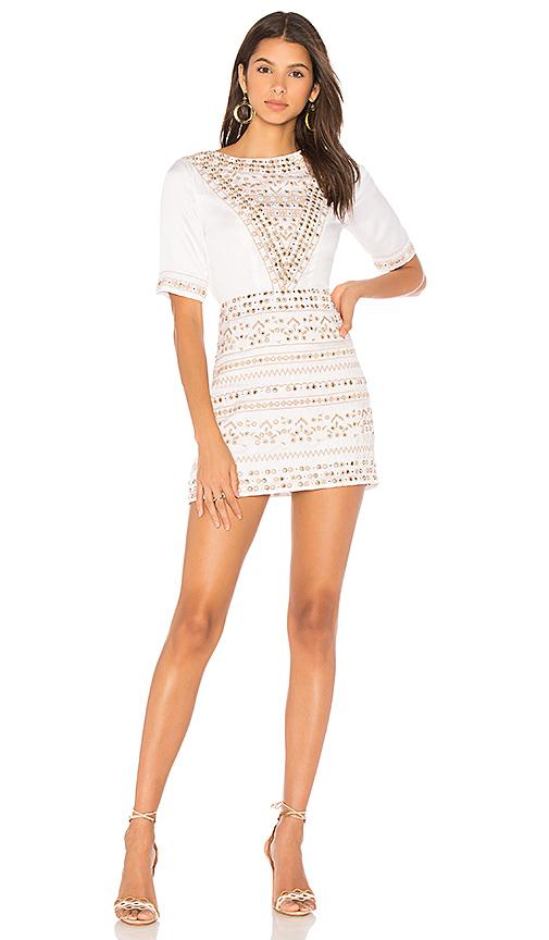 MAJORELLE Layne Dress in Ivory