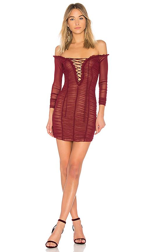 MAJORELLE Darling Dress in Red