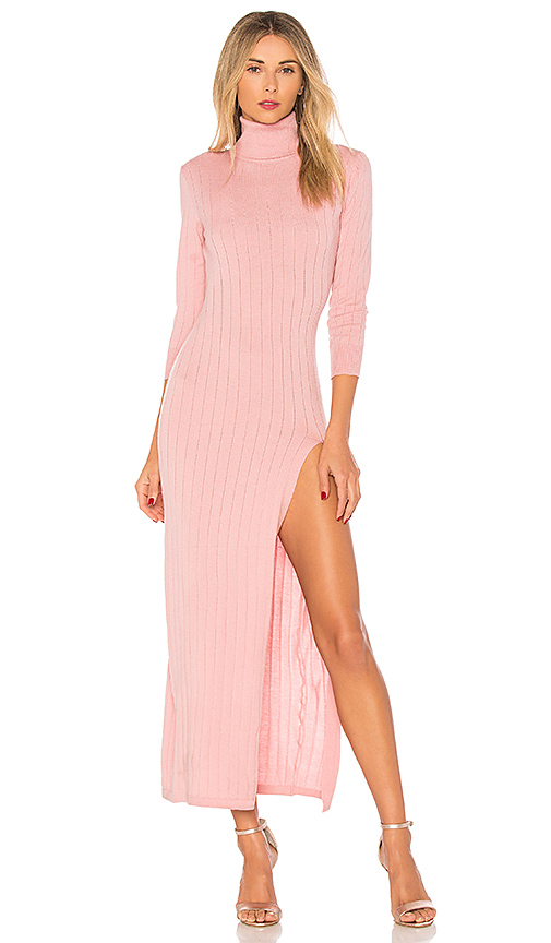 MAJORELLE Krew Dress in Pink. - size L (also in M,S,XS)