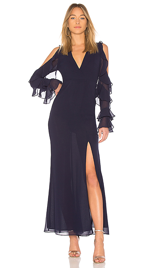 MAJORELLE Luella Dress in Navy