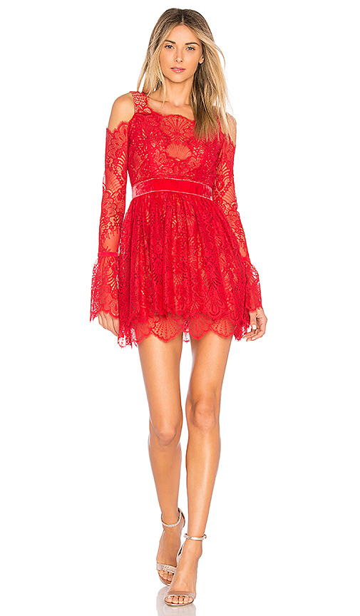 MAJORELLE Courtney Dress in Red