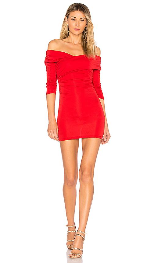 MAJORELLE Cypress Dress in Red