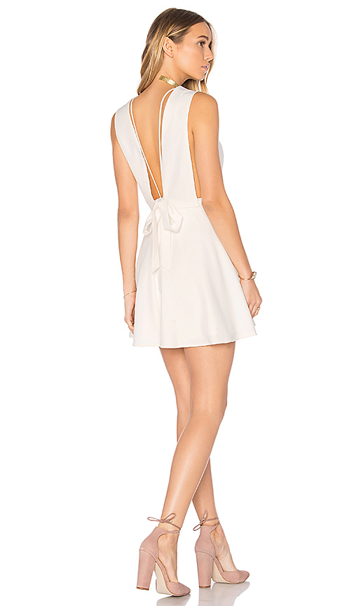 MAJORELLE Make a Toast Dress in Ivory