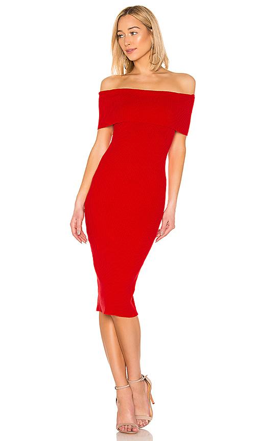 MAJORELLE Lulu Dress in Red. Size XS,S,M,L,XL.