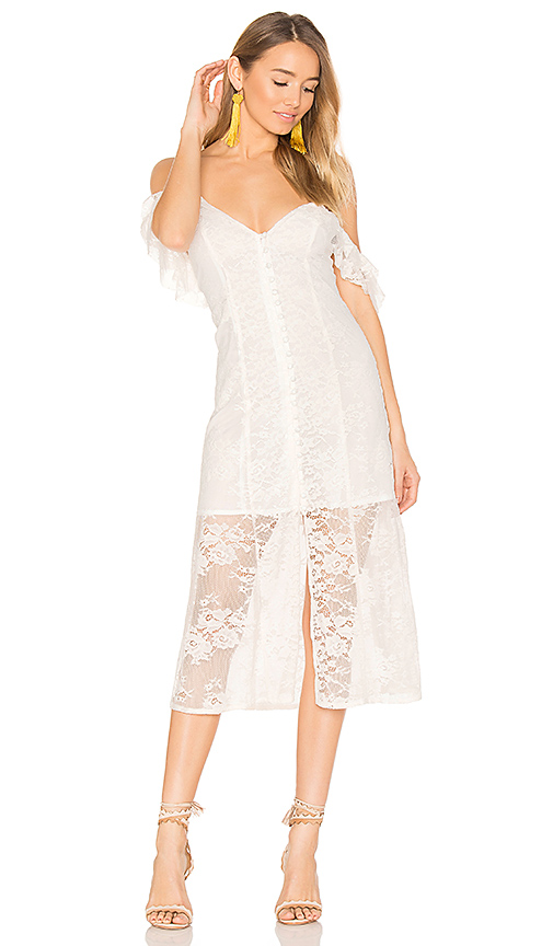 MAJORELLE White Oak Dress in White