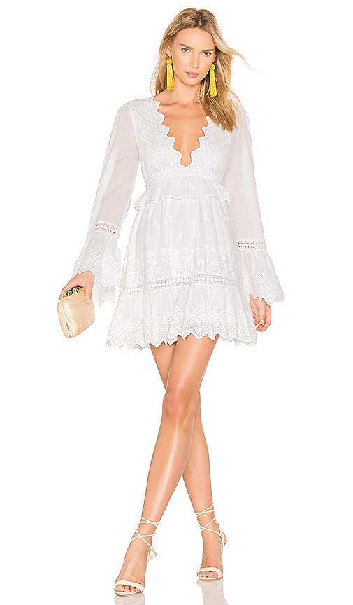 MAJORELLE Western Ridge Dress in White