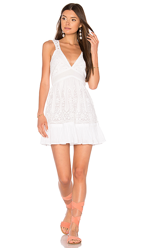 MAJORELLE Blackberry Dress in White