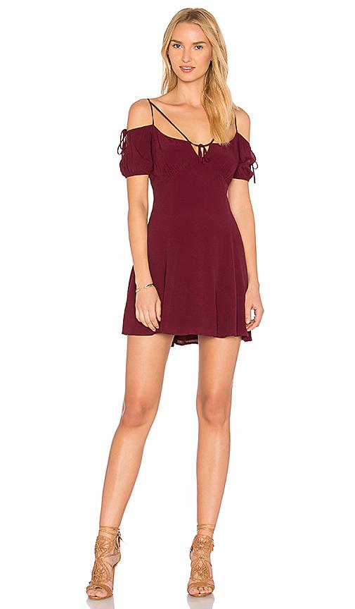 MAJORELLE Whisper Dress in Burgundy