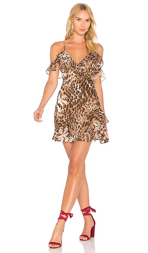 MAJORELLE x REVOLVE Salsa Dress in Brown