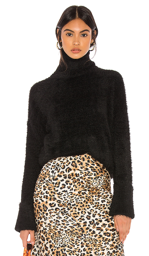 Majorelle Sabrina Sweater In Black.