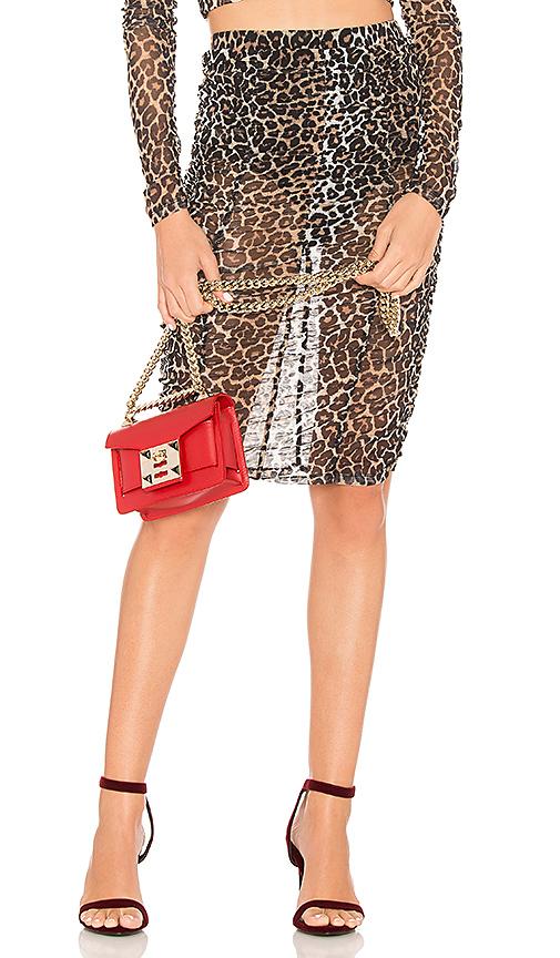 MAJORELLE Gobi Skirt in Black. - size L (also in M,S,XL, XS, XXS)