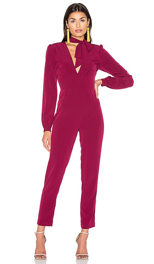 MAJORELLE Bella Jumpsuit in Wine. - size S (also in XS)