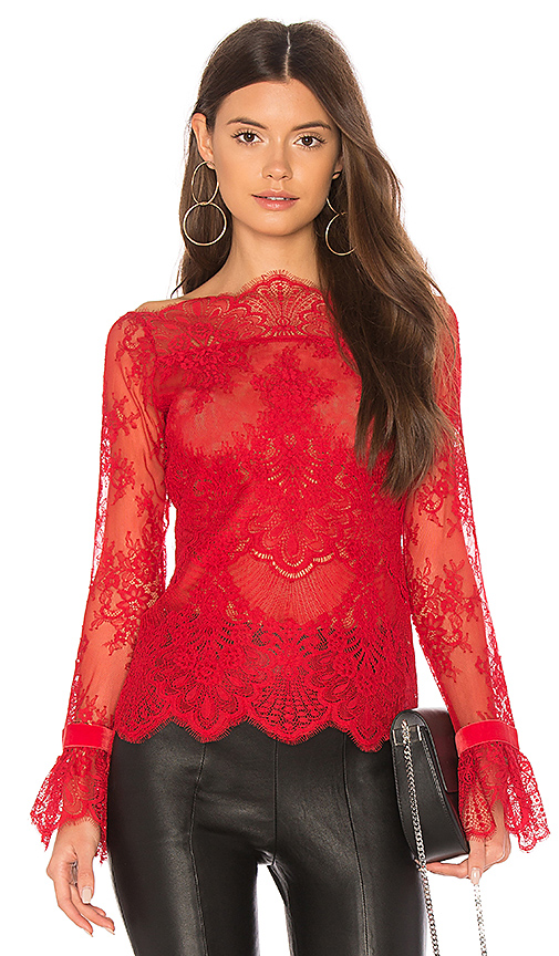 MAJORELLE Samantha Top in Red. - size XS (also in L,M,S,XL)