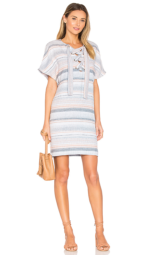 Photo of Mara Hoffman Lace Up Mini Dress in Blue - shop Mara Hoffman dresses sales