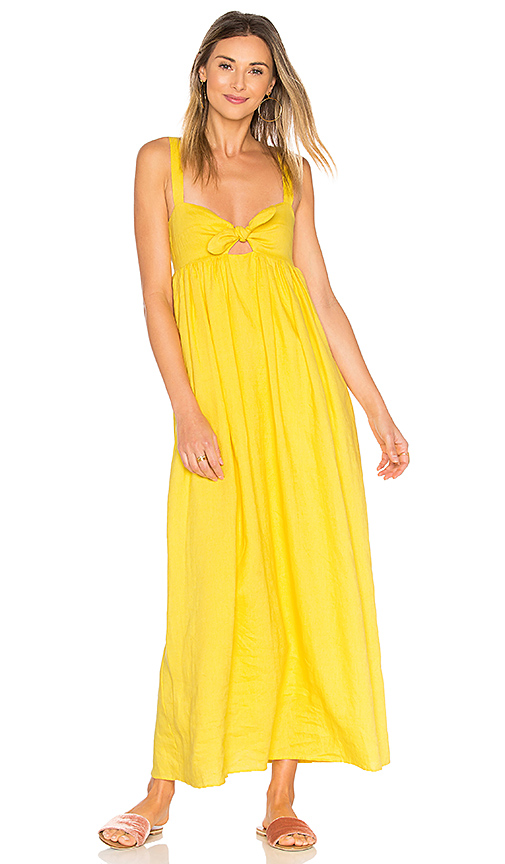 Mara Hoffman Tie Front Maxi Dress in Yellow. - size 2 (also in 4,6)
