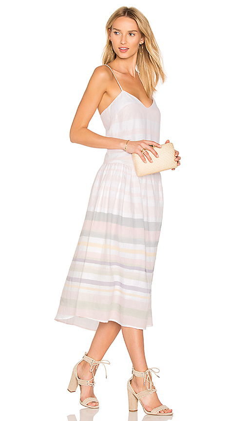Mara Hoffman Drop Waist Midi Dress in Pink. - size 4 (also in 0,2,6)