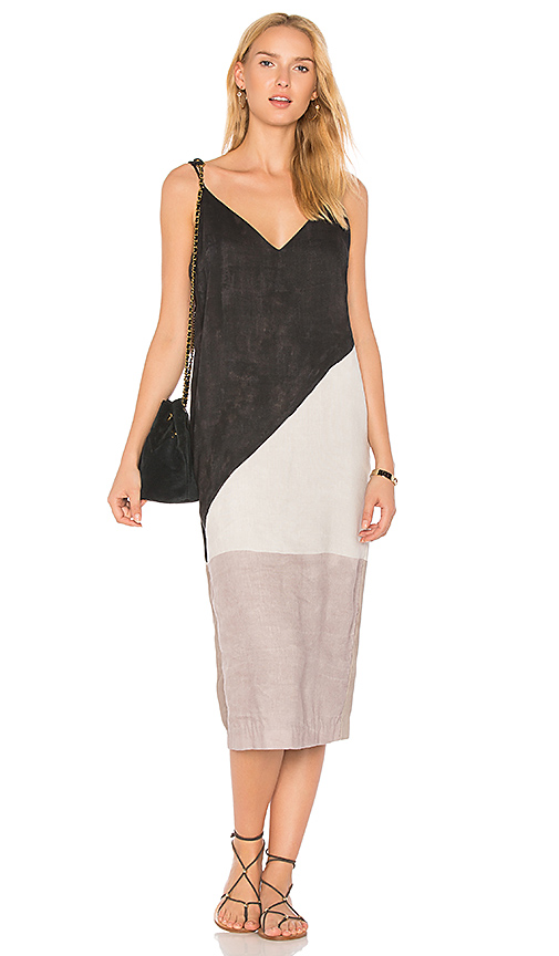 Mara Hoffman Georgia Slip Dress in Gray