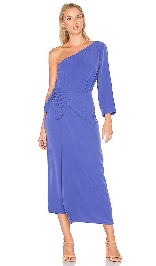 Mara Hoffman Shirley One Shoulder Dress in Purple