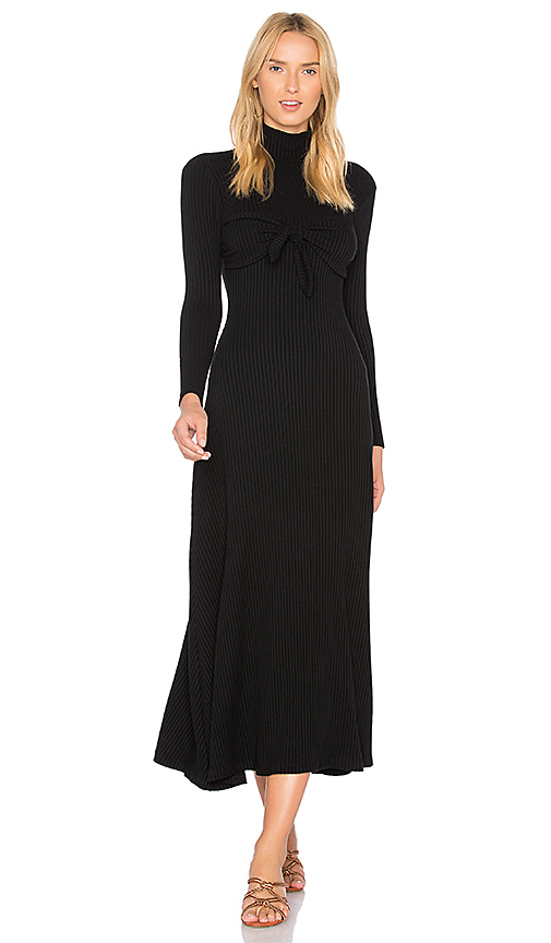 Photo of Mara Hoffman Flo Midi Dress in Black - shop Mara Hoffman dresses sales