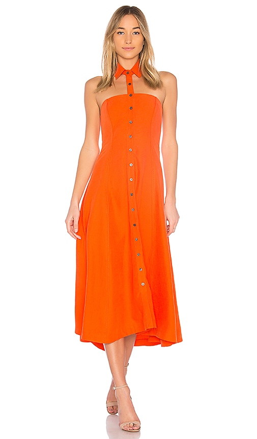 Photo of Mara Hoffman Veronique Dress in Orange - shop Mara Hoffman dresses sales