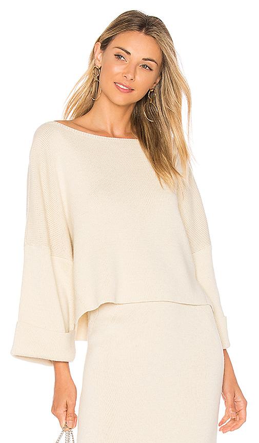 Mara Hoffman Eva One Shoulder Sweater in Cream. - size XS (also in S,M)