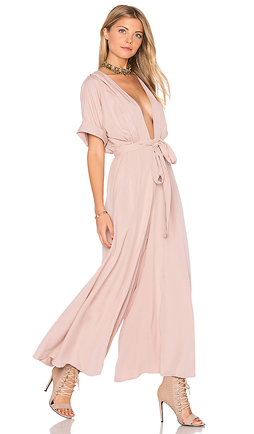 Mara Hoffman Deep V Jumpsuit in Mauve. - size 6 (also in 0)