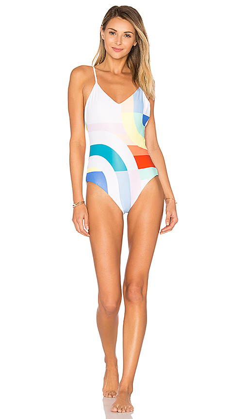 Mara Hoffman Classic One Piece in White