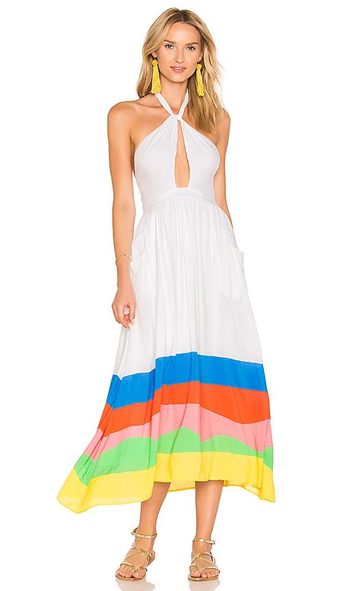Mara Hoffman Halter Midi Dress in White. - size L (also in M,S,XS)