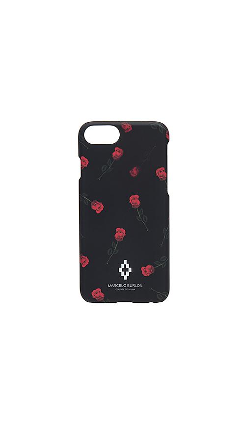 Marcelo Burlon Chekkar iPhone 7 Phone Case in Black