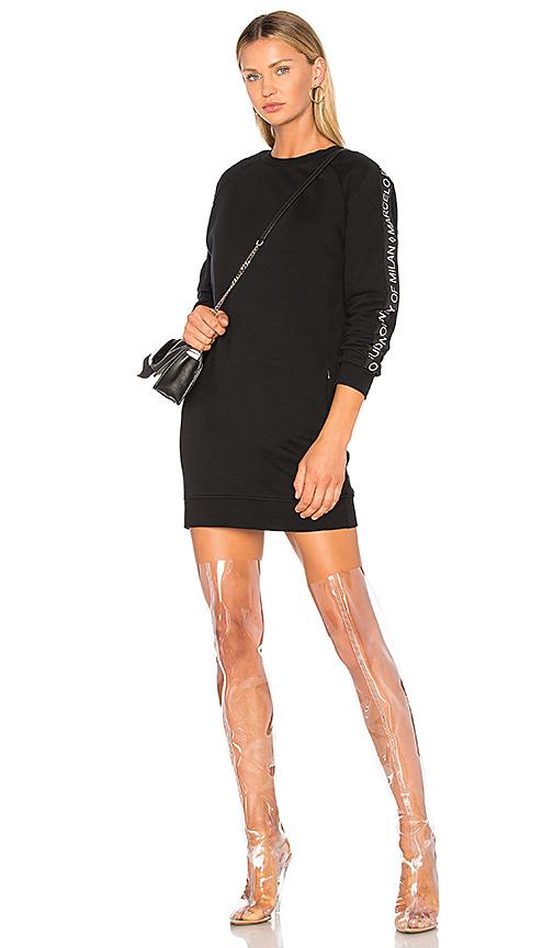 Marcelo Burlon Newen Sweatshirt Dress in Black