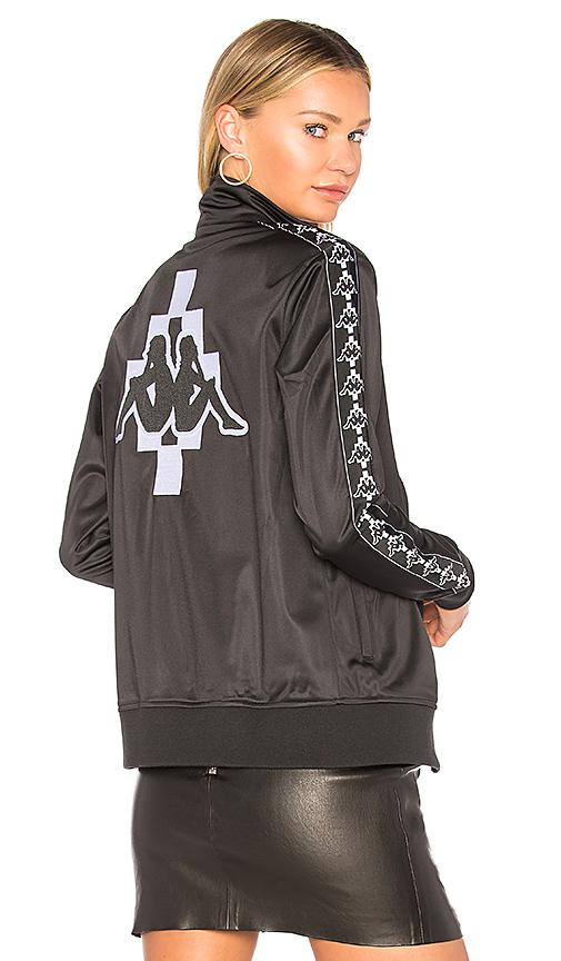 Marcelo Burlon Kappa Zip-Up Jacket in Black