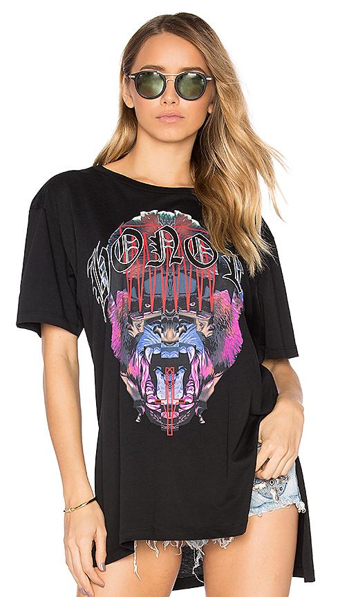Marcelo Burlon Neomi Poncho T-Shirt in Black