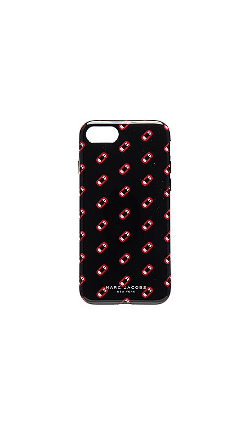 Marc Jacobs Monogram Scream iPhone 7 Case in Black