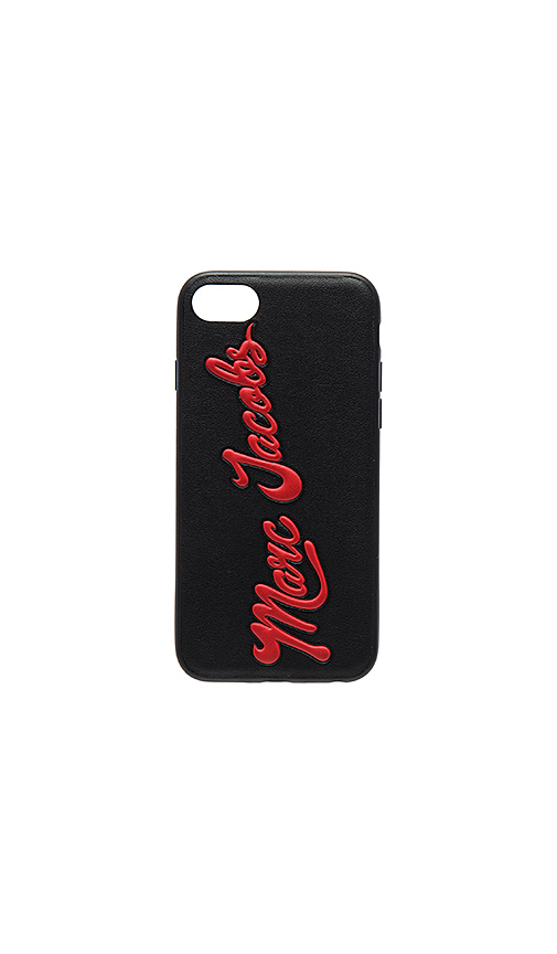 Photo of Marc Jacobs Glossy Marc iPhone 7 Case in Black - shop Marc Jacobs accessories and jewelry sales