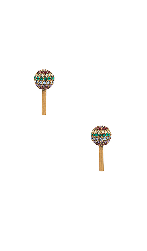 Marc Jacobs Lollipop Studs in Metallic Gold
