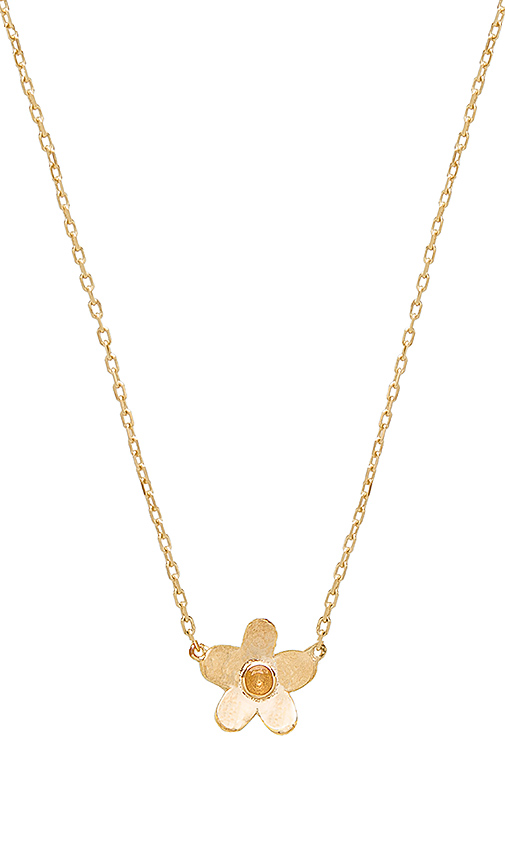 Marc Jacobs Daisy Pendant in Metallic Gold