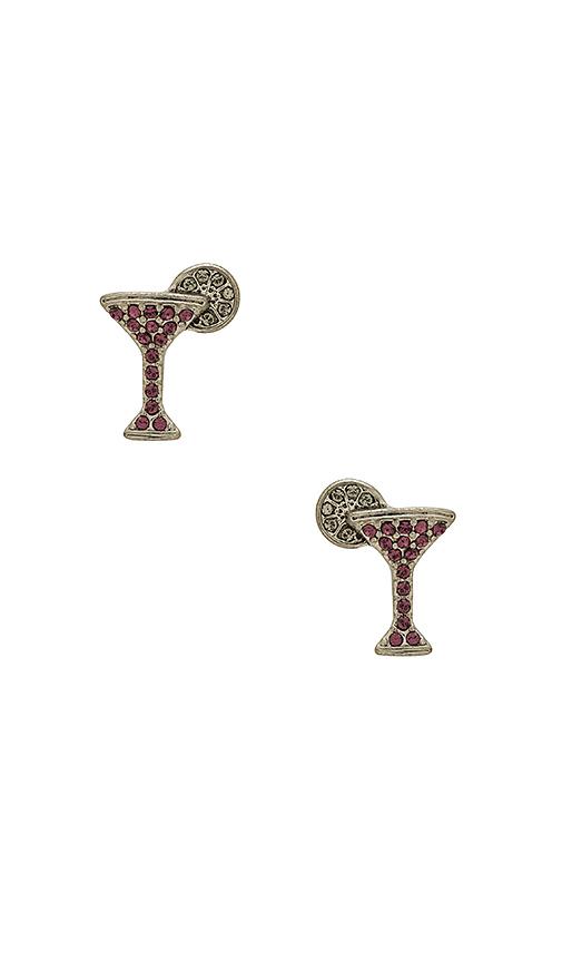 Marc Jacobs Cosmopolitan Studs in Metallic Silver