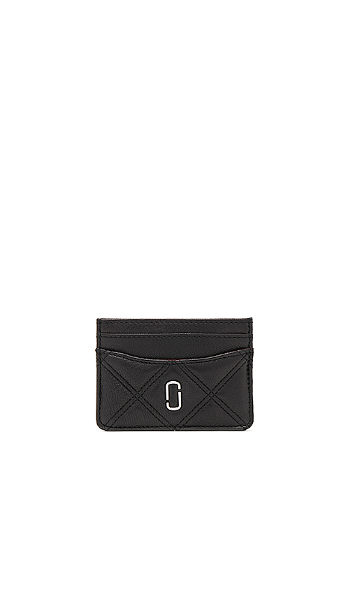 Photo of Marc Jacobs Double J Matelasse Card Case in Black - shop Marc Jacobs bags sales