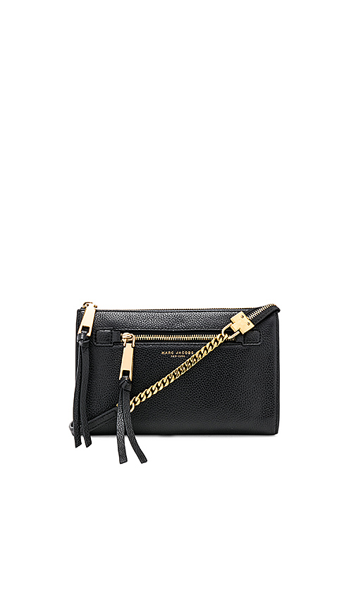 584494d78a MARC JACOBS SMALL RECRUIT LEATHER CROSSBODY BAG - BLACK