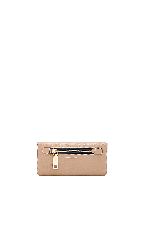 Marc Jacobs Gotham Open Face Wallet in Taupe