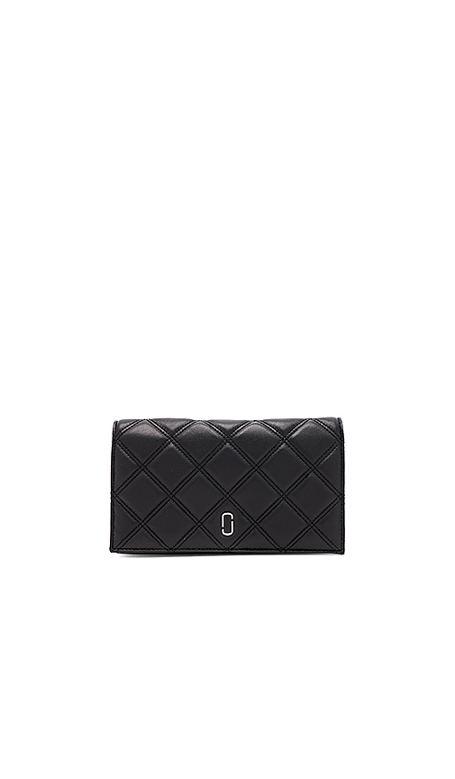 Marc Jacobs Double J Matelasse Wallet On Chain in Black