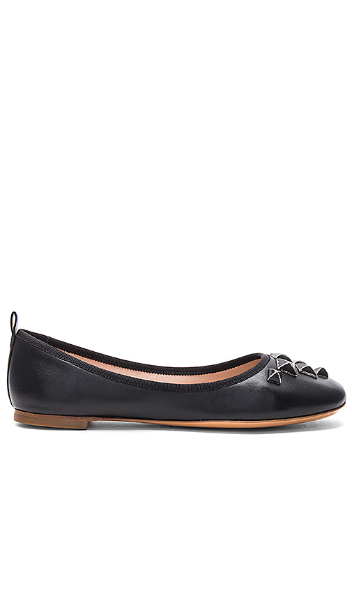 Marc Jacobs Cleo Studded Ballerina Flat in Black