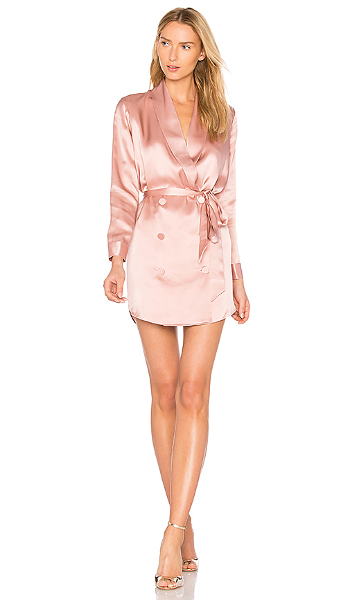 Michelle Mason Belted Dress in Pink