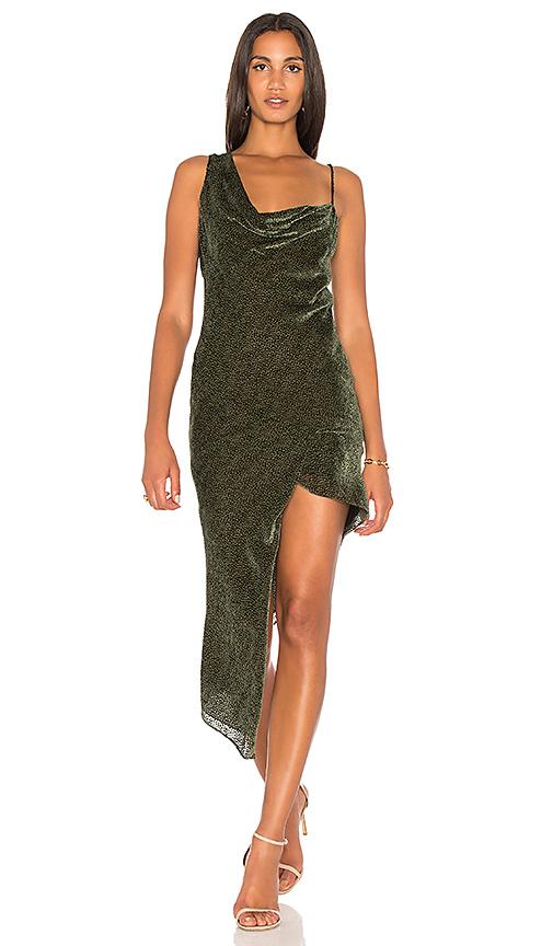 Michelle Mason Bias Maxi Dress in Olive