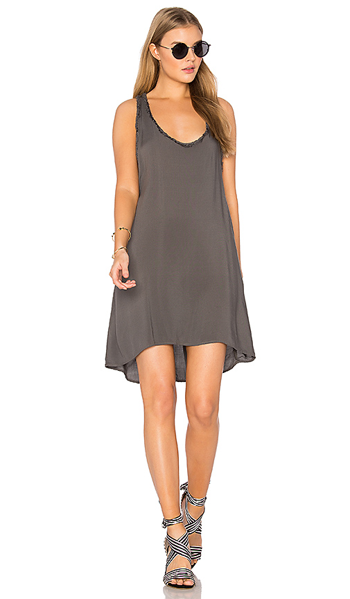 MATE the Label Odette Racerback Dress in Gray