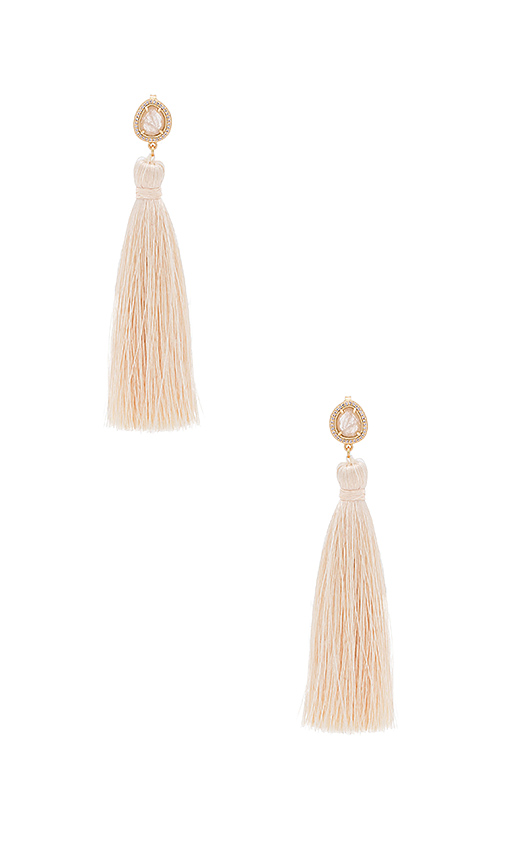 Melanie Auld Tassel Slice Earring in Metallic Gold