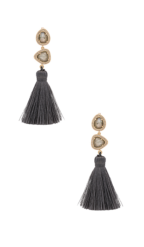 Melanie Auld Trio Tassel Earring in Metallic Gold