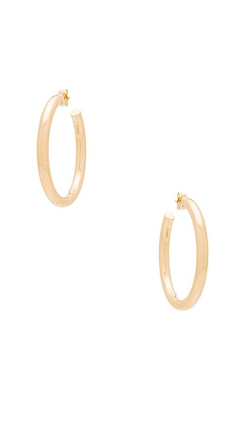 Melanie Auld Modern Hoop Earring in Metallic Gold